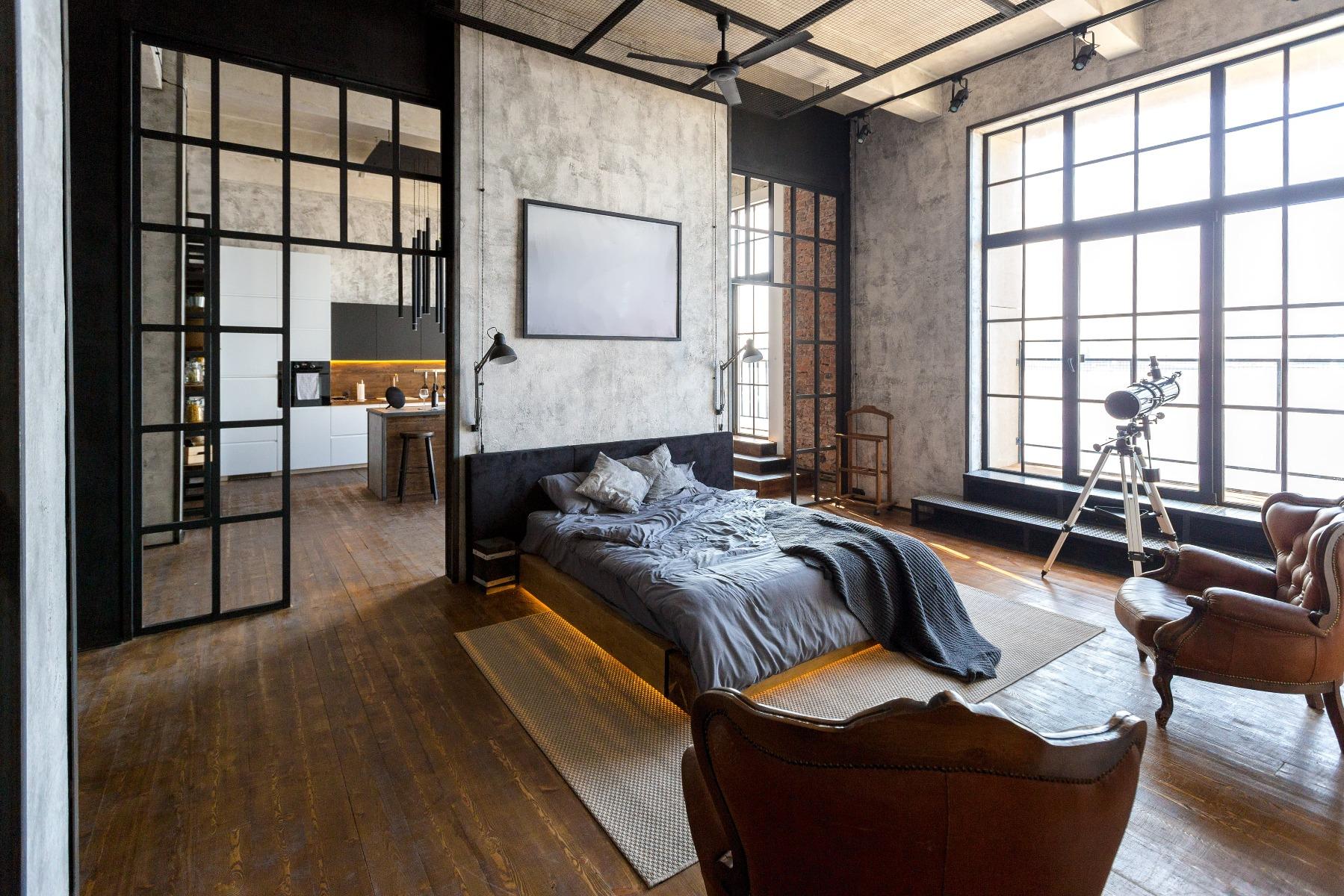 Das Bild zeigt einen Raum im Industrial Style.