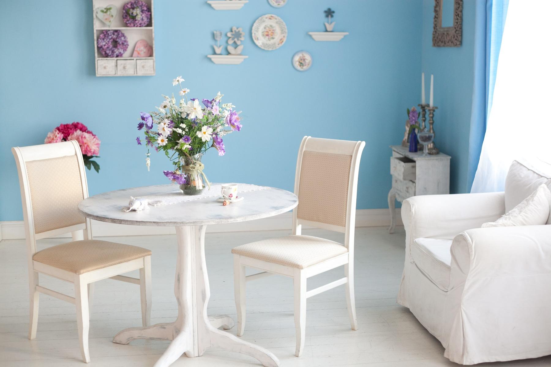 Das Bild zeigt ein Zimmer im Shabby Chic Stil.