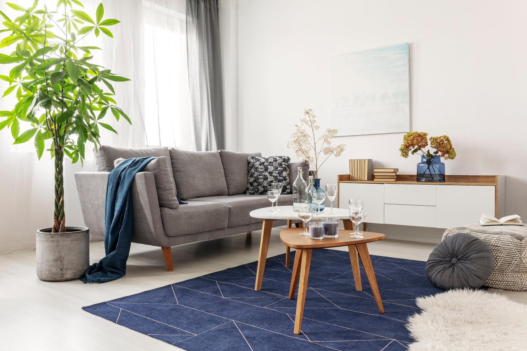 Das Bild zeigt ein Zimmer im skandinavischen Stil.