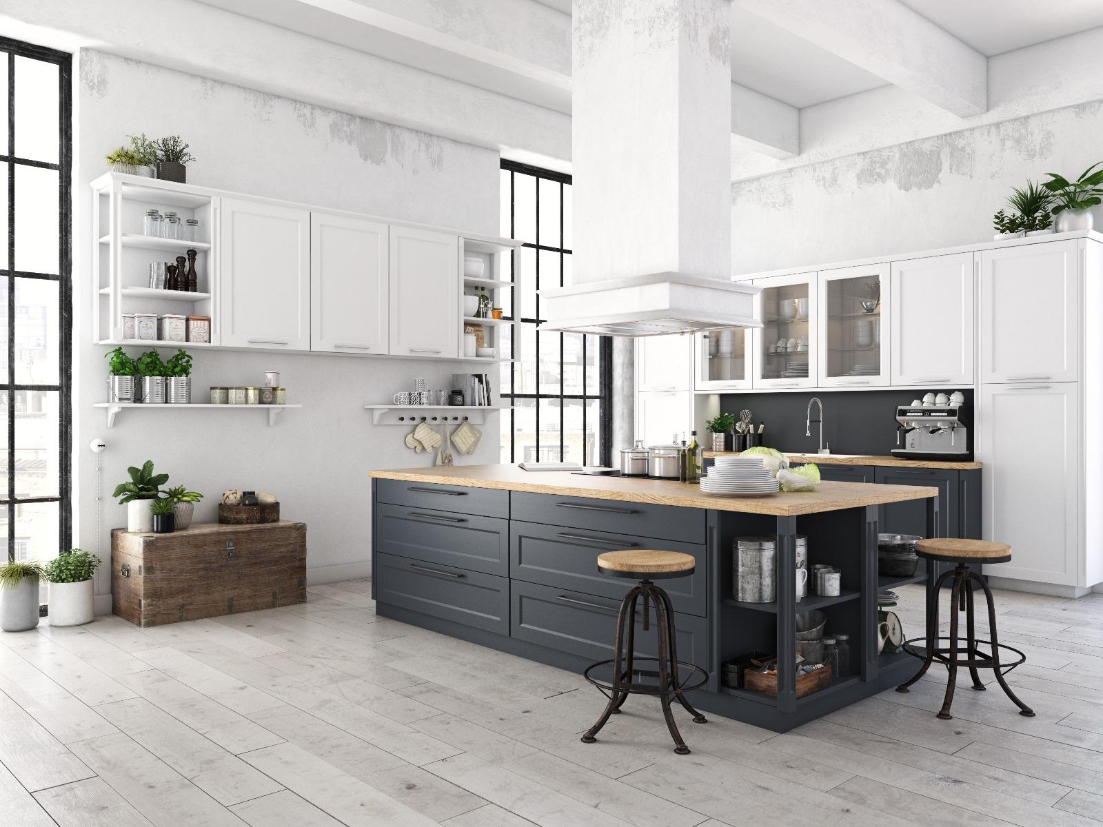 Das Bild zeigt eine moderne Küche.