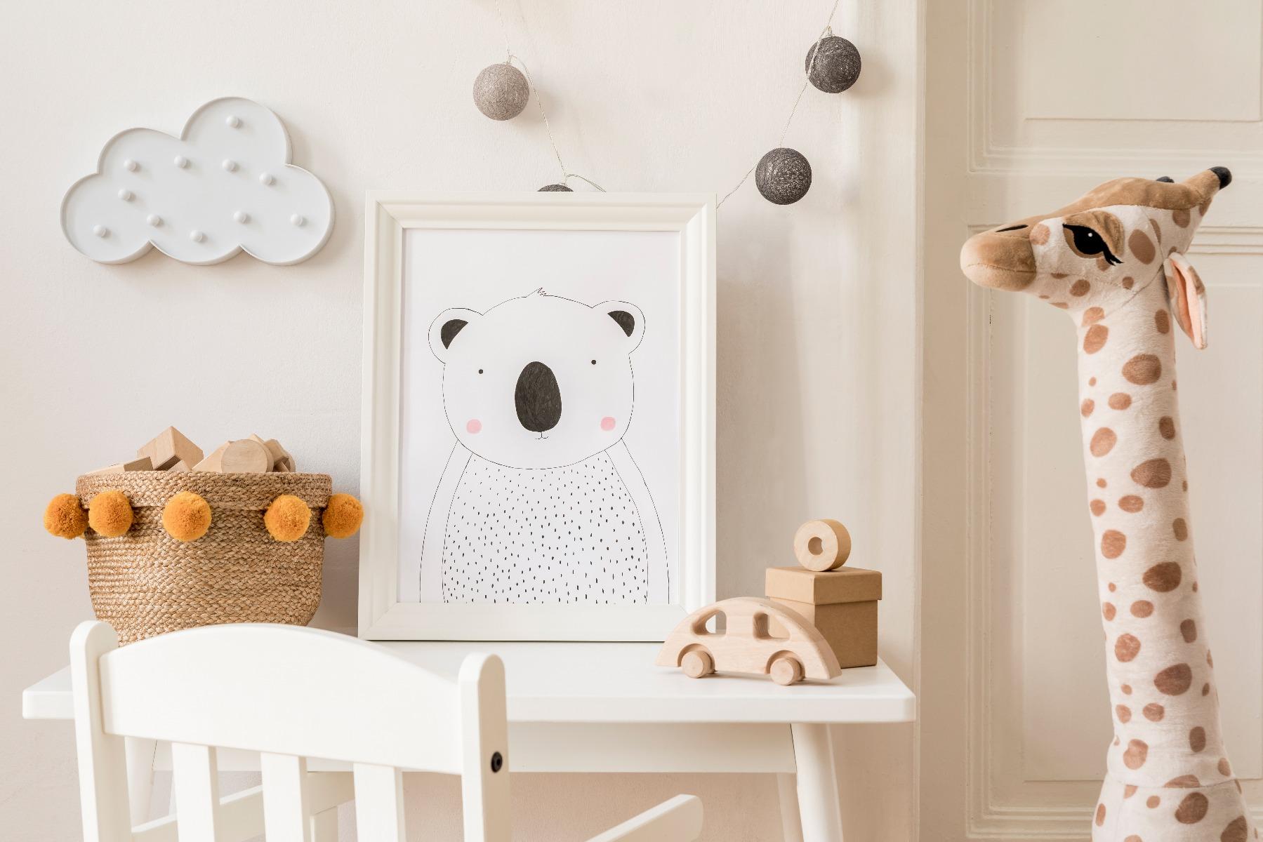 Das Bild zeigt Kinderzimmer Dekoration.