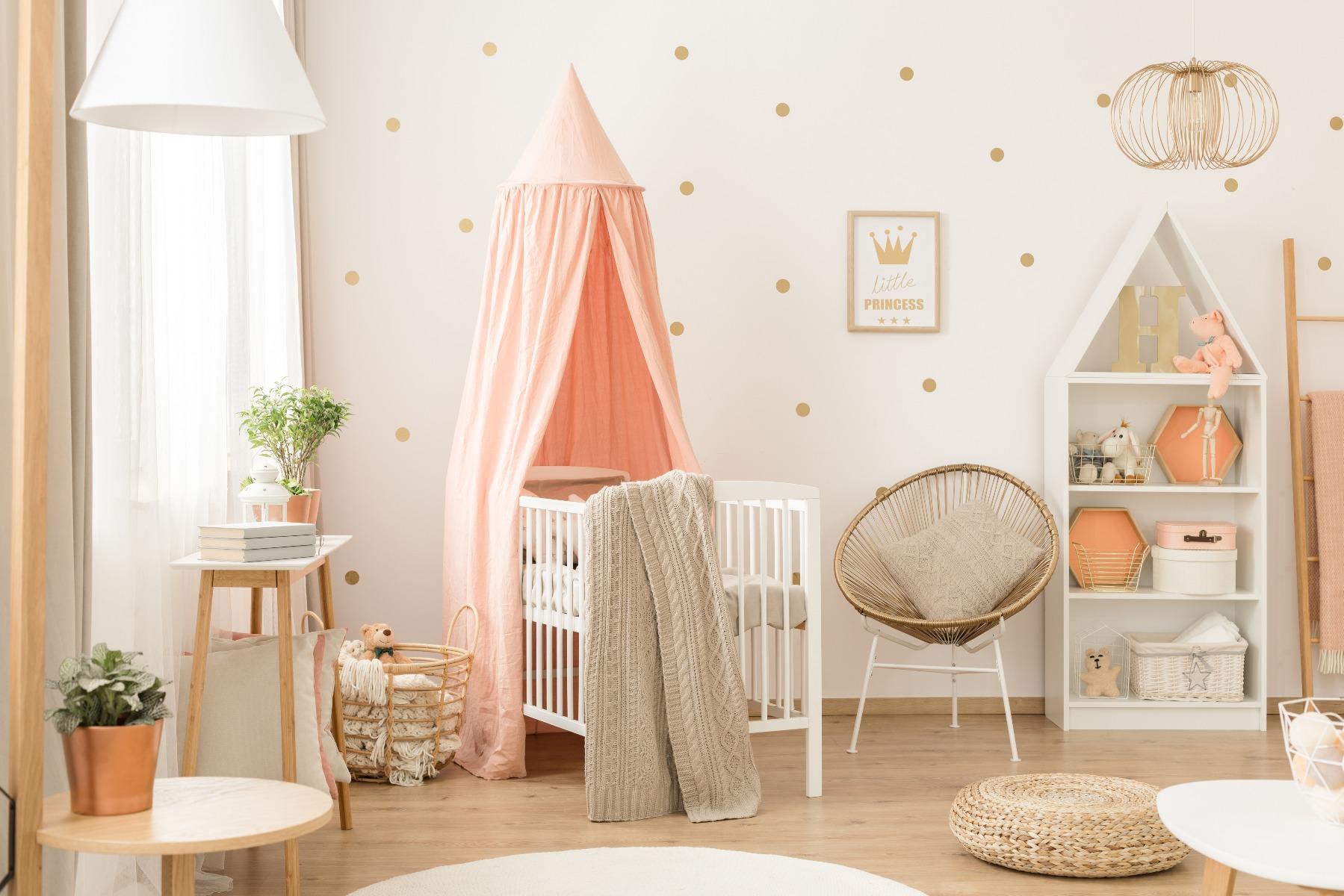 Das Bild zeigt ein Kinderzimmer.