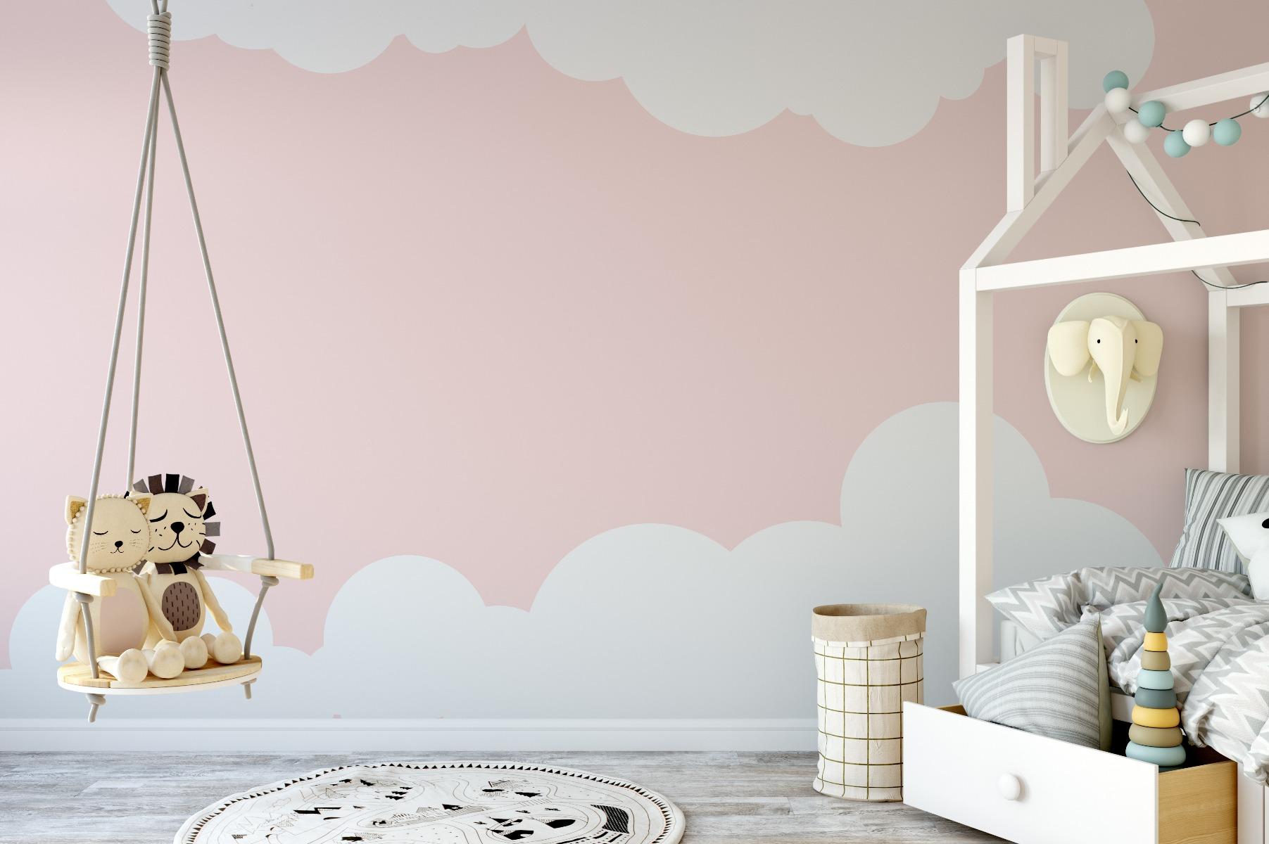 Das Bild zeigt eine Kinderzimmer Wand.