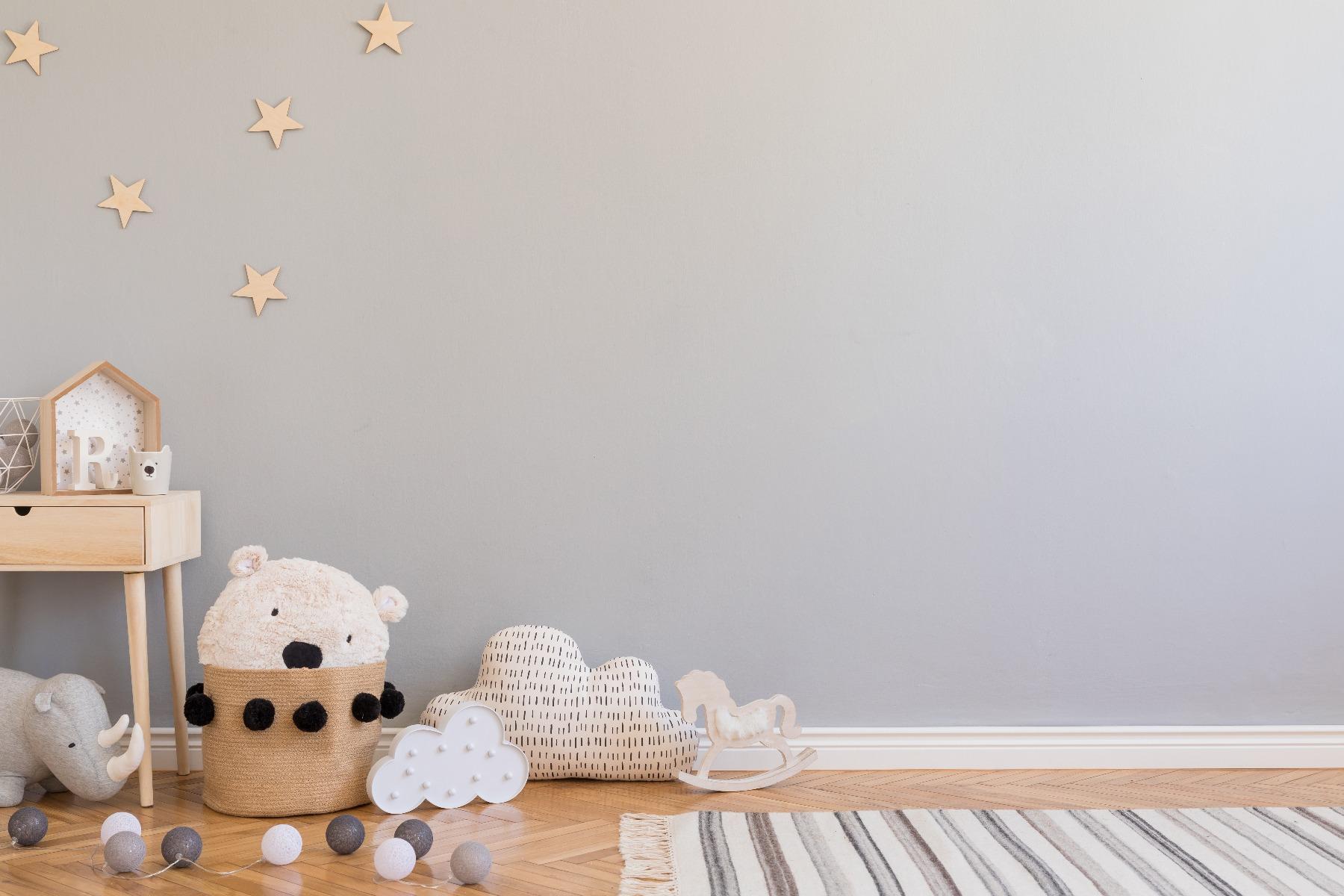 Das Bild zeigt einen Platz zum Spielen im Kinderzimmer.