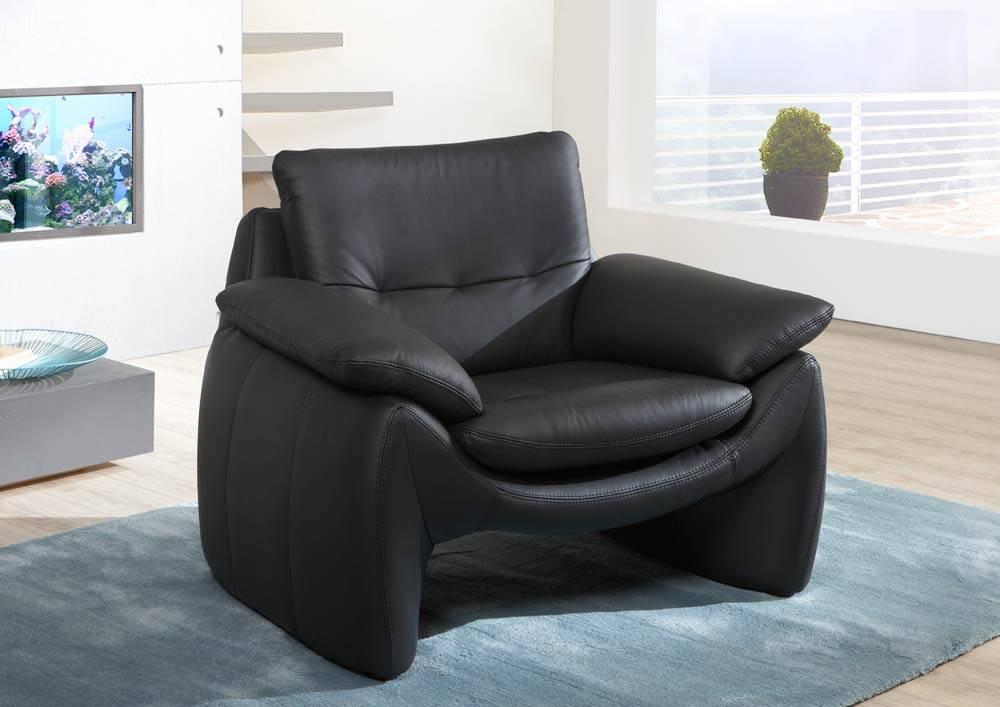 Das ist ein Foto von einem Sessel aus Echtleder.