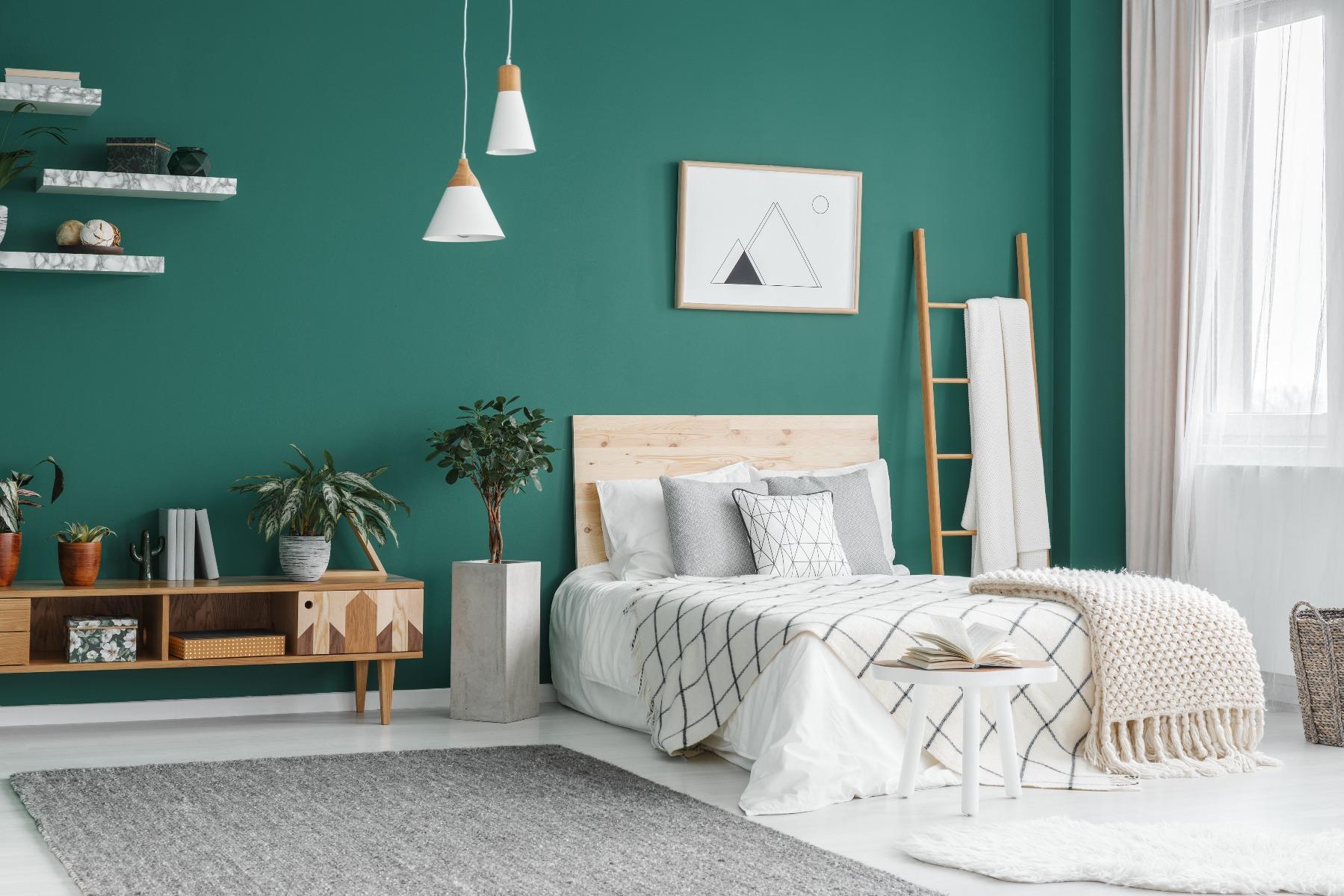 Das Bild zeigt eine Schlafzimmer Farbe.