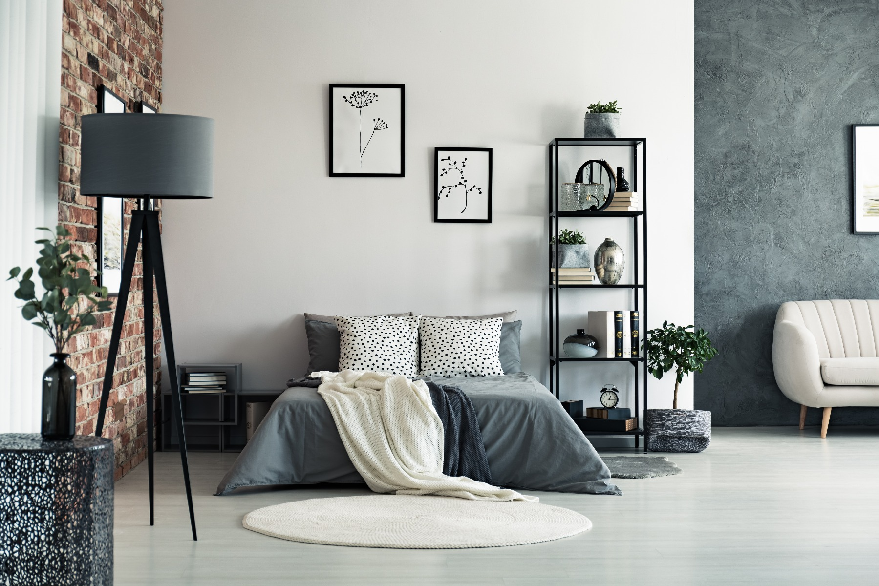 Das Bild zeigt die Schlafzimmer Raumaufteilung.