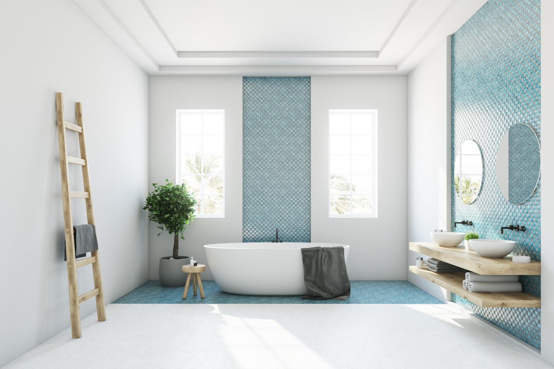 Das Bild zeigt ein modernes Badezimmer.