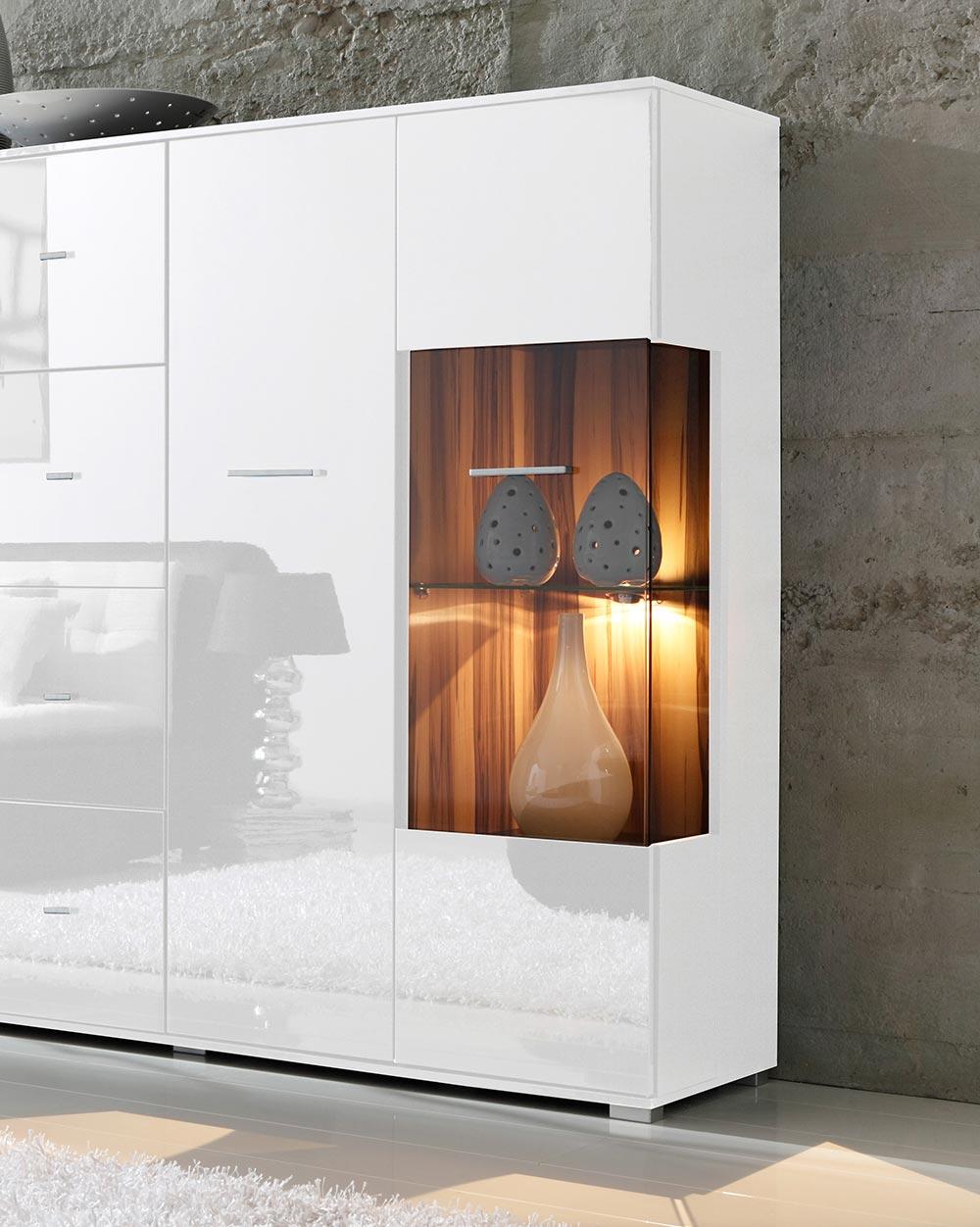 highboard wohnzimmerschrank vitrinenschrank vitrine. Black Bedroom Furniture Sets. Home Design Ideas