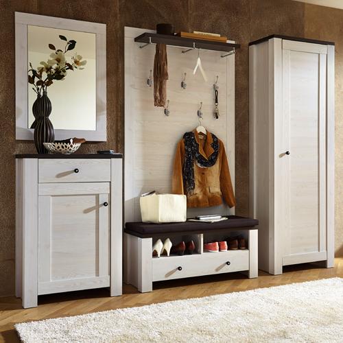 garderobe garderoben set dielenm bel flur l rche pinie wei landhaus neu 23432 ebay. Black Bedroom Furniture Sets. Home Design Ideas