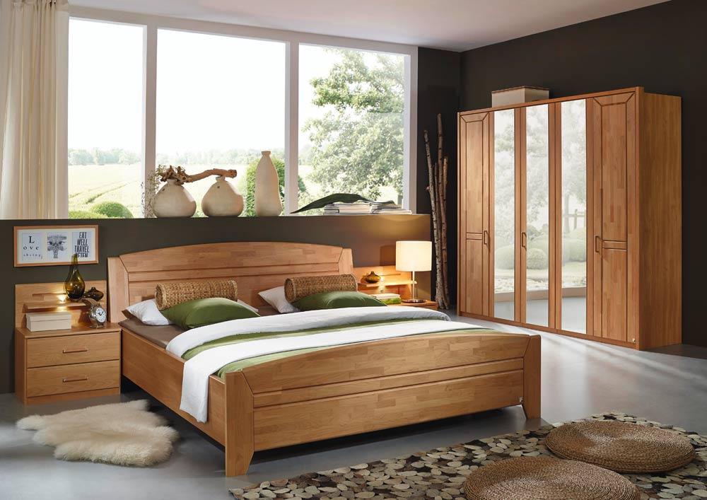 Kleiderschrank Bett Nachttisch Schlafzimmer Erle natur teilmassiv ...