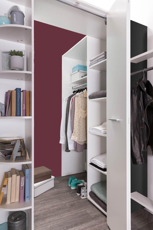 eckschrank eckkleiderschrank mit regal begehbarer. Black Bedroom Furniture Sets. Home Design Ideas