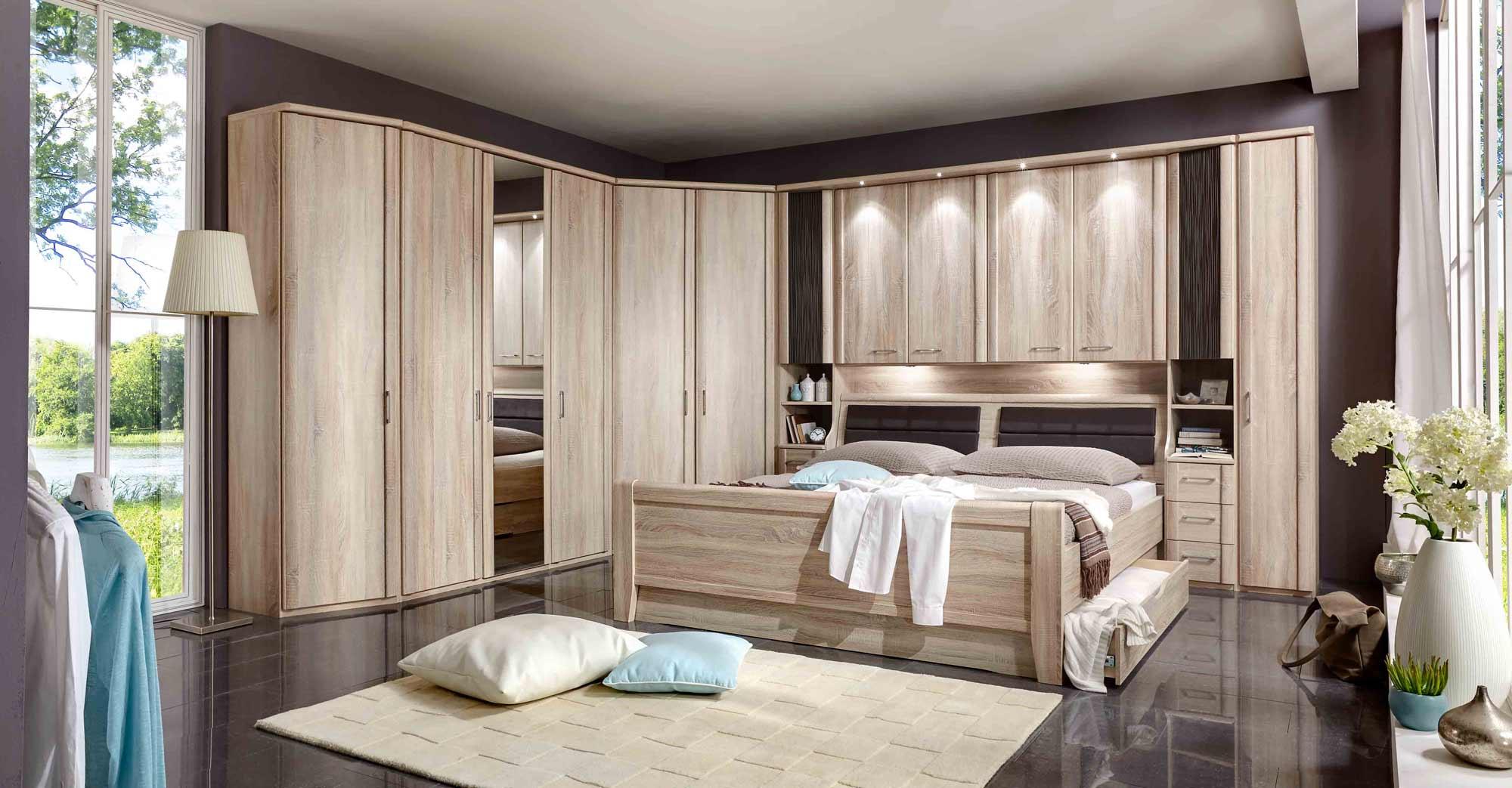 Überbau Schlafzimmer Bettbrücke Überbauschlafzimmer Eiche sonoma ...