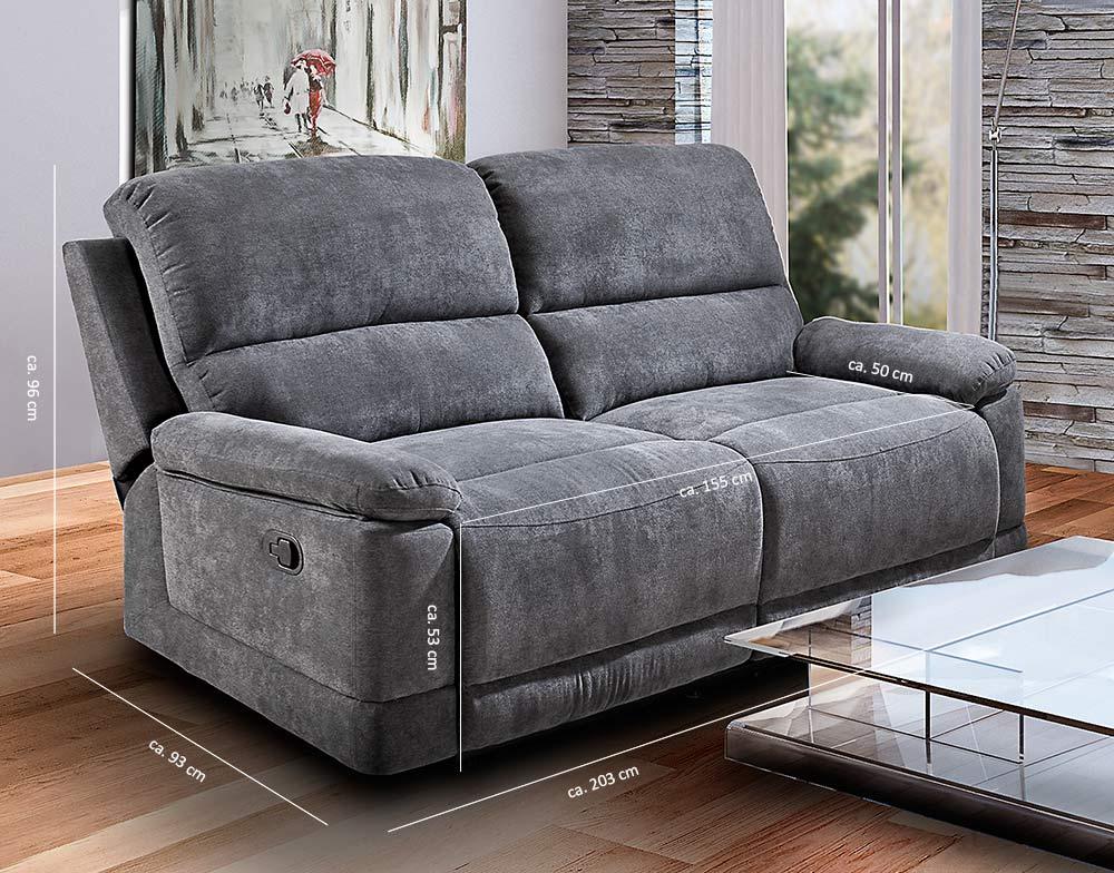 klappsofa funktionssofa mit relaxfunktion relaxsofa 2. Black Bedroom Furniture Sets. Home Design Ideas