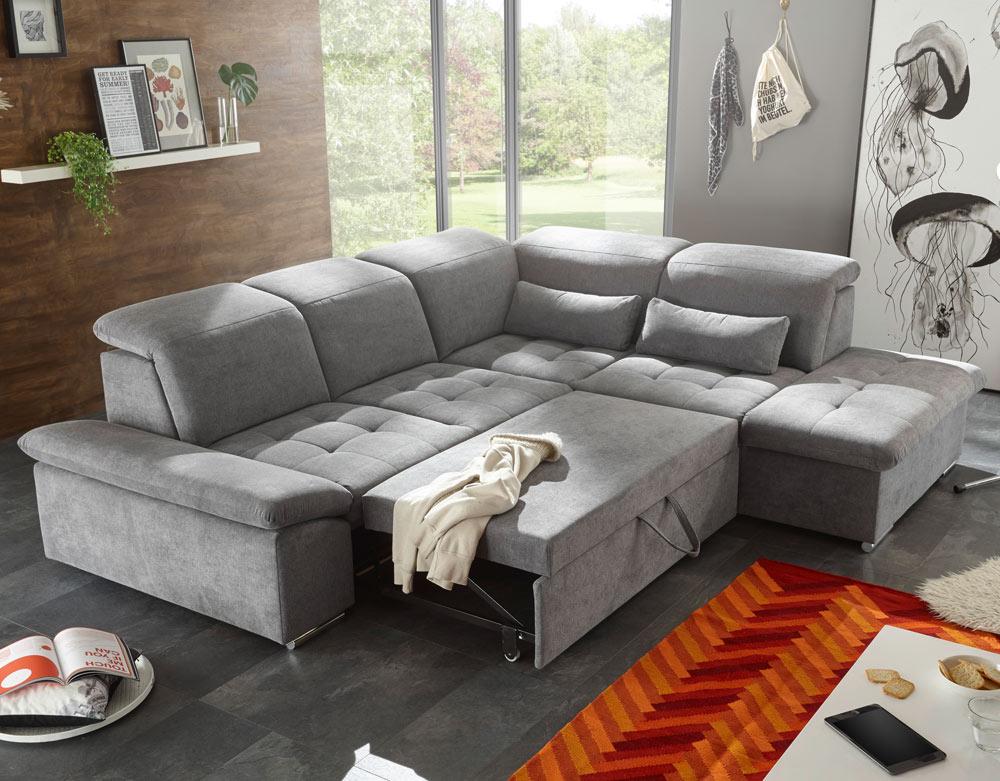 ecksofa mit schlaffunktion und bettkasten eckcouch sofa l. Black Bedroom Furniture Sets. Home Design Ideas